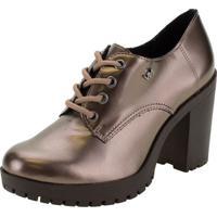 Sapato Feminino Oxford Via Marte - 203707 Bronze 34