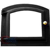 Porta De Ferro Pequena Vidro Abaulado Para Forno