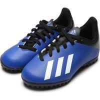 Chuteira Adidas Performance Menino X 19 4 Tf Jr Azul