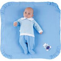 Saída De Maternidade Ternura Masculina Evandro Azul Bebê