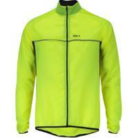 Jaqueta Corta-Vento De Ciclismo Oxer Wind - Masculina - Amarelo Fluor