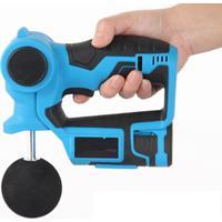 Massageador Liveup Massage Gun Profissional 6 Níveis 4 Ponteiras Azul