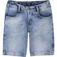 Bermuda Jeans Infantil Menino
