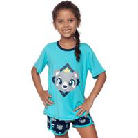 Pijama Curto Urso Teen 8