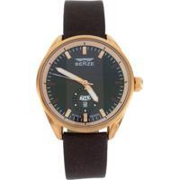 Relógio Analógico Berze Bt170M Marrom Com Preto