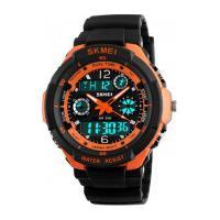 Relógio Skmei Infantil -0931- Preto E Laranja