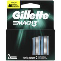 Carga Para Lâmina De Barbear Gillette Mach3 - 2 Unidades