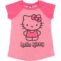 Camisola Hello Kitty Menina Rosa