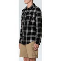 Camisa Flanela Xadrez Midnight Ml-Preto/Offwhite - P