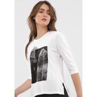 Blusa Calvin Klein Folhagem Branca