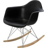 Cadeira Eames Com Braco Base Balanco Preto Fosco - 24503 - Sun House