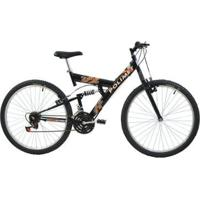 Bicicleta Full Suspension Kanguru Aro 26 V- Brake 18 Marchas Polimet - Unissex