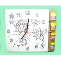 Kit Tela Para Pintar Relógio Kits For Kids Flores Multicolorido