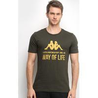 Camiseta Kappa Way Of Life Masculina - Masculino-Verde Militar