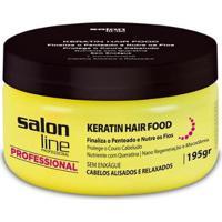 Pomada Keratin Hair Food Nutrition - Salon Line Professional - 195Gr - Unissex-Incolor