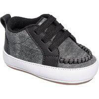 Botinha De Bebê Infantil Menino Tenis Casual Pdk Kids Tênis Bebê Texturizado Cano Alto Jeans Preto