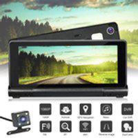 Câmera De Lente Dupla Gps G-Sensor Touch Screen 7 Polegadas Hd1080P Retrovisor Câmera Dvr De Carro Estação De Controle Bluetooth Wifi (Cor: Preto)