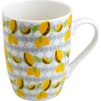 Caneca Lemons Juice- Amarelo Escuro & Branca- 330Ml