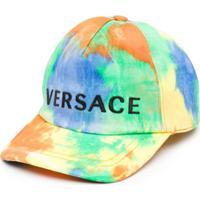 Young Versace Boné Com Estampa De Logo - Azul
