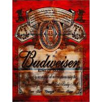 Placa Decorativa Em Mdf Cerveja Budweiser Oldschool Antigo 30X40 Único
