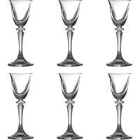 Conjunto 6 Taças Para Licor Kleopatra Em Cristal - 50 Ml - Bohemia Crystalite