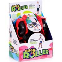 Patins Infantil Easy Roller Para Adaptar No Tênis Rodas Pretas Cor Vermelho