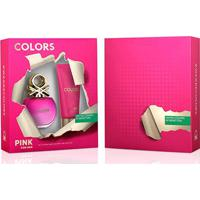 Kit Perfume Feminino Colors Pink Benetton Eau De Toilette 80Ml + Body Lotion 75Ml - Feminino-Incolor