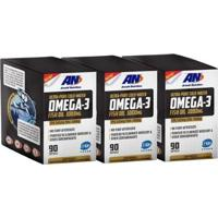 Kit 3 Ômega 3 1000Mg Arnold Nutrition 90 Softgels - Unissex