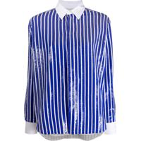 Polo Ralph Lauren Long Sleeve Sequin-Embellished Striped Short - Azul