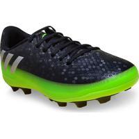 Chuteira Masc Infantil Adidas Aq3525 Messi 16 4 Preto/Verde