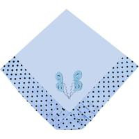 Manta Enxoval Piquet Padroeira Baby Patch Ursinho Azul..