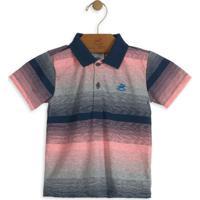 Camisa Polo Infantil Listrada Coral