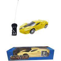 Carrinho De Controle Remoto Infantil De Brinquedo Carro 2 Funções Amarelo Zoop