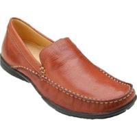Sapato Casual Para Pés Largos Mocassim Sandro & Co. Moscoloni Kyler (Dillon) Masculino - Masculino-Marrom