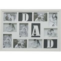 Painel Bee Collection Words Dad 9 Fotos 10X15Cm Branco Kapos