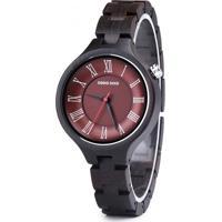 Relógio Madeira Dododeer-A16 - Vermelho