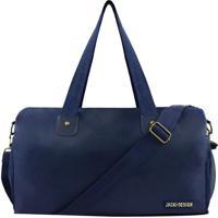 Bolsa De Viagem- Azul Marinho- 43X25,5X17,5Cm- Jjacki Design