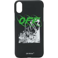 Off-White Iphone Xr Graphic Print Case - Preto