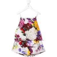 Dolce & Gabbana Kids Conjunto 2 Peças Com Estampa Floral - Branco
