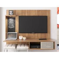 "Painel Para Tv Até 42"" Office Buriti/Off-White - Caemmun"