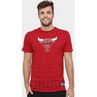 Camiseta New Era Nba Constallation Chicago Bulls - Masculino-Vermelho