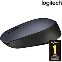 Mouse Óptico Sem Fio Logitech M170 Com 3 Botões, Nano Receptor Usb, Resolução De 1000Dpi E Cinza