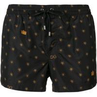 Dolce & Gabbana Short De Natação Estampado - Preto