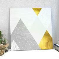 Placa Decorativa - Gold And Concrete