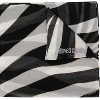 Roberto Cavalli Echarpe Com Padronagem De Zebra - Branco