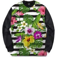 Blusa Bsc Stripe Flowered Full Print - Masculino