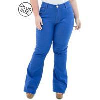 e70fab47b Calça Jeans Confidencial Extra Plus Size Flare Missy Feminina - Feminino