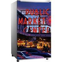 Adesivo Sunset Adesivos De Frigobar Envelopamento Porta Public Market