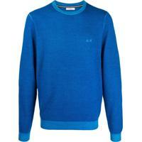 Sun 68 Suéter Com Look Vintage - Azul