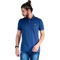Camisa Polo Hipica Polo Club Estilo Algodão Masculina - Masculino-Marinho